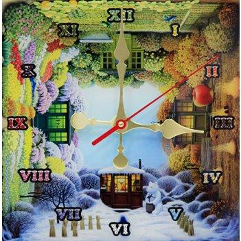 Картина сваровски - часы времена года
