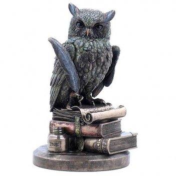 Фигурка декоративная мудрая сова, h 23 см
