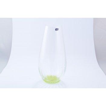 Ваза зеленая crystalex bohemia waterfall 30 см