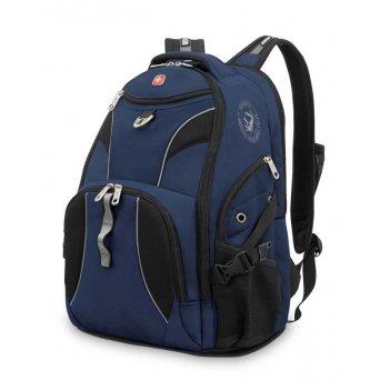 "Рюкзак wenger, 15"",синий/черный, полиэстер 900d/м2 добби, 34x17x47 см, 26"