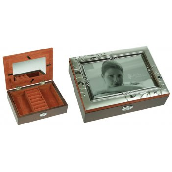 Шкатулка-фоторамка ювелирная moretto 18*13*5см