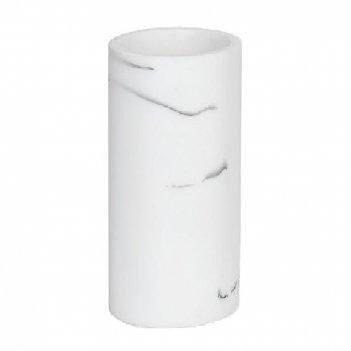 Andrea house стакан для зубных щеток эффект белого мрамора и черный хром