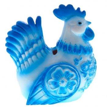 Копилка петух (голубой)
