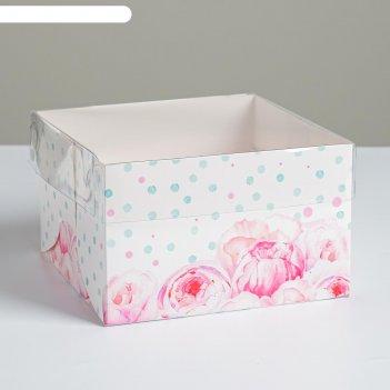 Коробка для капкейка «для самой прекрасной» 16 x 16 x 10 см