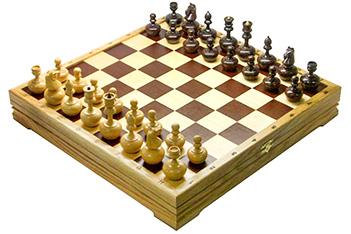 Игровой набор - шахматы неваляшки, шашки, карты, домино 43х43см