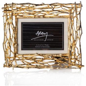 Рамка для фото michael aram золотые ветви 10x15см (золотистая)