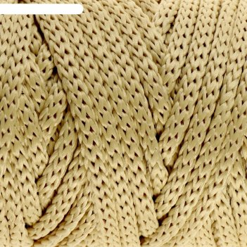 Шнур для рукоделия полиэфирный софтино 4 мм, 50м/160гр (молочный)
