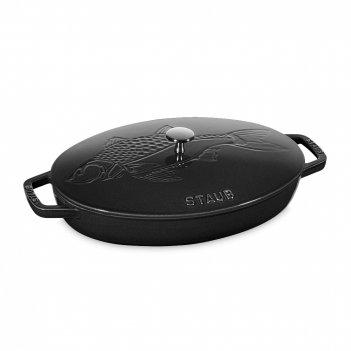 Сковорода овальная для рыбы, размер: 33 х 23,4 см, материал: чугун, цвет: