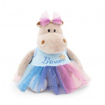 Мягкая игрушка бегемотик принцесса: в голубом, 20 см mc1997-72/20