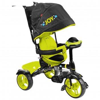 Велосипед трехколесный nika вд4м, колеса eva 10/8, цвет черный/лимонный