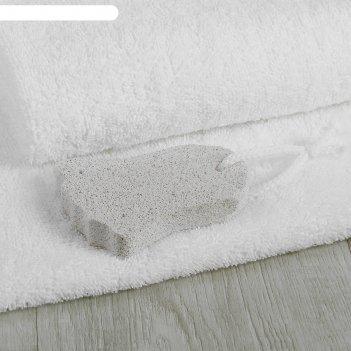 Пемза для педикюра «ступня», 9 x 6 см, цвет белый
