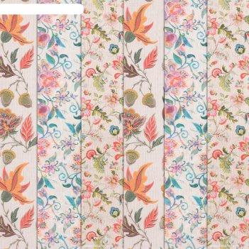 Бумага для творчества «ручная вышивка», 6 шт, 16 x 16 см