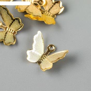 Подвеска бабочка, цвет золото