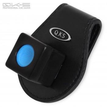 Держатель для мела qk-s x5 магнитный кожаный черный