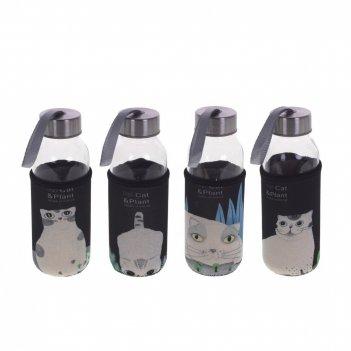 Бутылка в чехле 300 мл, l6 w6 h17 см, 4в.