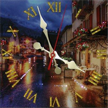 Картина сваровски - часы ночное кафе