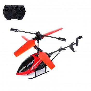 Вертолёт радиоуправляемый «крутой вираж», световые эффекты, цвет красный