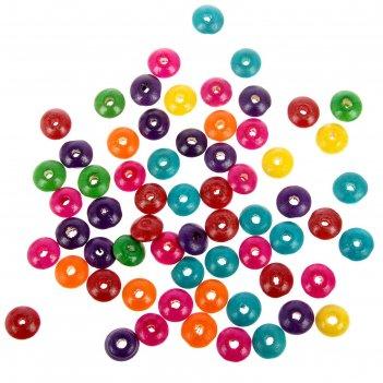 Деревянные бусины разноцветные набор 60шт, 6х14мм (wdb0459)
