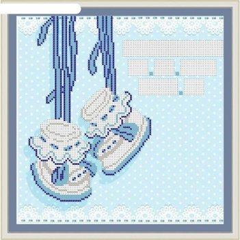 Основа для вышивания с нанесённым рисунком «метрика для мальчика №3»