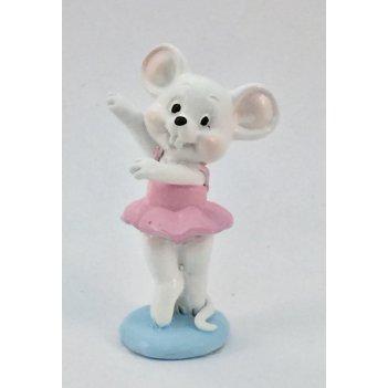 Фигурка декоративная мышка балерина 3*2*6см