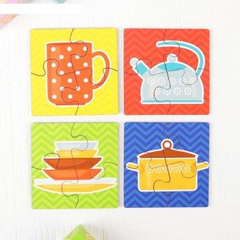 Пазл для малышей посуда