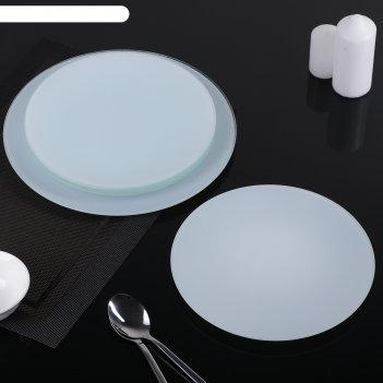 Сервиз столовый, 7 предметов: 1 шт 32 см, 6 шт 18 см, цвет белый, подарочн