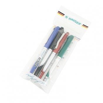 Набор: шариковая ручка (4шт/ур) hauser h6068set