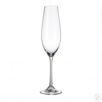 Набор фужеров для шампанского crystalite bohemia columba 260 мл(6 шт)