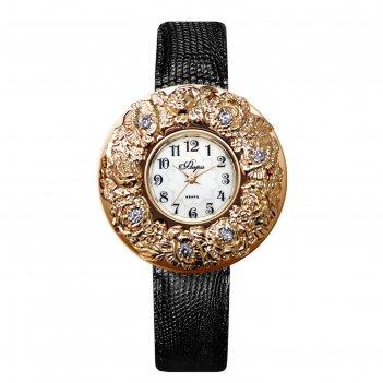 Часы наручные женские flora, кварцевые, модель 1143b8l2-02