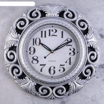 Часы настенные, серия: интерьер, калатея, d=42 см, микс