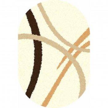 Ковёр shaggy ultra s606, 2,5*5 м, овал, cream
