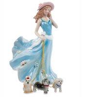 Cms-32/ 7 статуэтка дама с собаками (pavone)