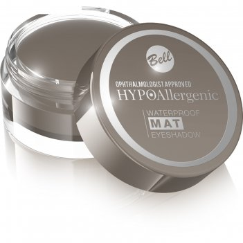Матовые тени для век bell hypoallergenic waterproof mat eyeshadow, водосто