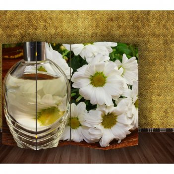 Ширма белые цветы, 200 x 160 см