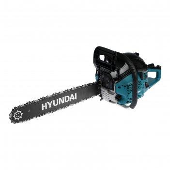 Бензопила hyundai х 5320, 2т, 2.5 квт, 3.4 л.с., 20, шаг 0.325, паз 1.5 мм