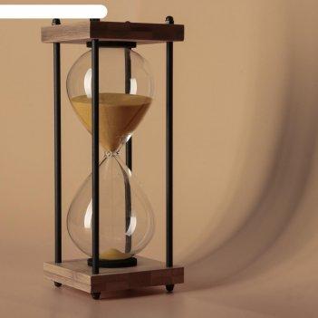 Часы песочные 30 минут, песок золото 9.5х25 см