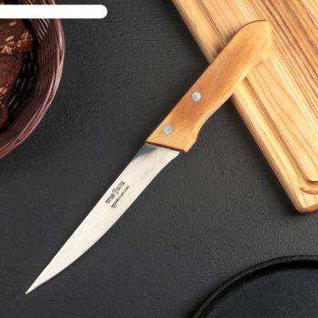 Нож для мяса филейный «ретро», лезвие 16 см, деревянная рукоять