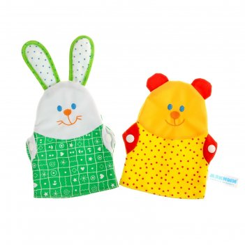 Игрушки-рукавички зайка и мишка