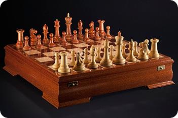 Шахматы стаунтон люкс (лайсвуд/самшит) kadun