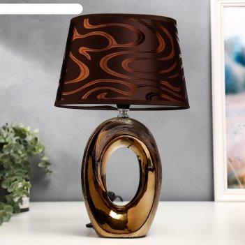 Лампа настольная 36665/1 e14 40вт кофе h37 см