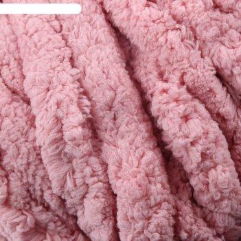 Пряжа фантазийная 100% полиэстер softy plush maxi 250 гр 22 м пыльная роза