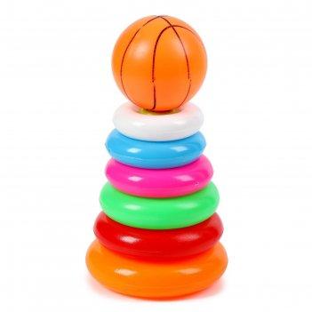 Пирамидка баскетбольный мяч, 6 колец
