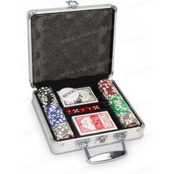Набор для игры в покер на 100 чипов cards