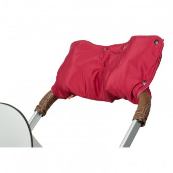 Муфта для рук на коляску флисовая (кнопки), цвет вишнёвый мкф11-000