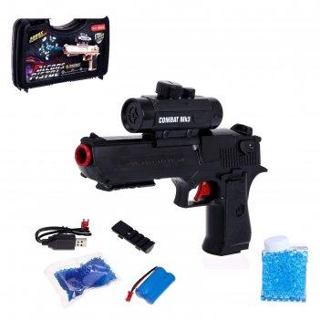 Автоматический пистолет «профессионал», стреляет гелевыми пулями, работает