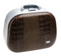 Чемодан для парикмахерских инструментов dewal коричневый 30, 5x16,0x23, 0с