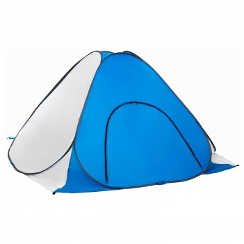 Палатка зимняя автомат 1,8*1,8 см, цвет бело-голубая, без пола (pr-tnc-038