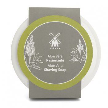 Твердое мыло для бритья в фарфоровой чаше muehle  алоэ вера, 65 гр