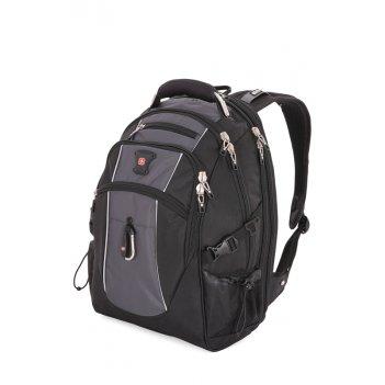 Рюкзак wenger, чёрный/серый, полиэстер 900d/420d/м2 добби, 34x23x48 см, 38