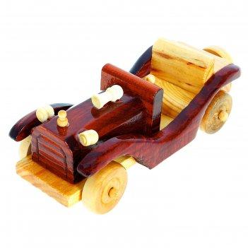 Сувенир ретро кабриолет мини, с гудком, цвета микс